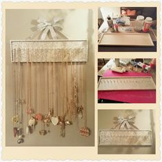 DIY Jewelry Necklace Hanger