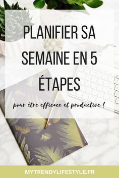 Plan your week in 5 steps My Trendy Lifestyle Organization Bullet Journal, Life Organization, Organizing, Planner Organisation, Bullet Journal Week, Coaching, Miracle Morning, Burn Out, Filofax