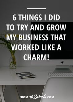 Two weeks ago I shared a few of my utter business fails, so this week I thought I'd flip the script and talk about the things I did to build my business that actually worked! It doesn't matter what your niche or what your goals are - if you're looking to grow online nail these 6 things and you'll be well on your way!
