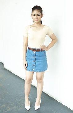 Loisa Andalio Teen Fashion, Fashion Models, Espanto, Filipina Beauty, Teen Actresses, Simple Outfits, Filipino, Short Skirts, Denim Skirt