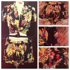 Rare vintage cabana hawaiian tiki pinup swing rockabilly playsuit hotrod shorts and shirt outfit 40's surf