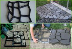 DIY PATH - great idea to go around the edge of our above ground pool in the back garden http://www.socreativethings.com/diy-garden-path-ideas/