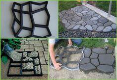DIY Garden Paths Picture Frame DIY Garden Path Ideas