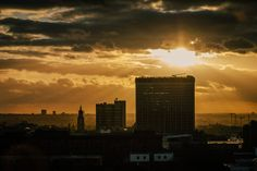 Croydon Skyline at Sunset  Croydon Clocktower  by randallmurrow