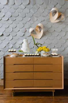 midcentury dessert tables