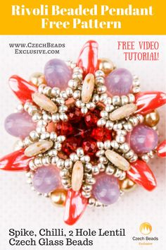 ? Spike, Chilli, 2 Hole Lentil Czech Glass Beads - Rivoli Beaded Pendant Free Pattern -> SAVE it! Our new free video tutorial is waiting for you! This time it�s a Rivoli Beaded Pendant Pattern! This beautiful and stylish free rivoli pendant pattern can be used in different ways. For example, as a pendant for a chain necklace pattern and multi strand seed bead necklace pattern; as a central element for your rivoli bracelet pattern or you can also repeat this free rivoli bead pattern for…