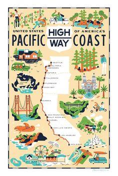 Pacific Coast Highway - Road trip from San Diego, CA to Seattle, WA. Pacific Coast Highway, Highway Road, Highway 1 Roadtrip, Oregon Coast Roadtrip, Oregon Road Trip, Road Trip Usa, West Coast Road Trip, Dry Tortugas, Lake Tahoe