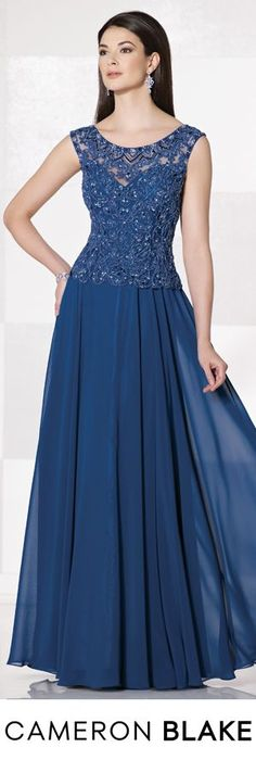 Cameron Blake Fall 2015 - Style No. 215635 Royal Blue Evening Gown  cameronblake.com #motherofthebridedresses #eveninggowns | M-O-B Styles | Pinterest | Blue E…