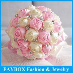 Silk  , crystal Wedding Flowers Bridal Bouquets | ... Silk Rose flower Bride Bridal Crystal Wedding Bouquets-in Wedding