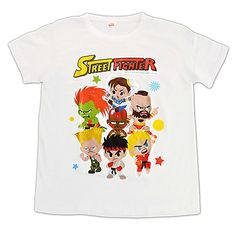White Mini Street Fighter Characters T-Shirt https://www.retrogamingstores.com/gaming-accessories/novelty-street-fighter-t-shirt-size-medium-white-style-1-group  Love Street Fighter? Then this is perfect for you!