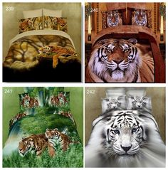 aeProduct.getSubject() 3d Bedding Sets, Tiger Print, King Beds, King Queen, Queen Size, Decoration, Animals, Horses, Beds