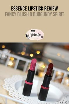Essence lipstick review Fancy Blush & Burgundy Spirt #beauty #blogger