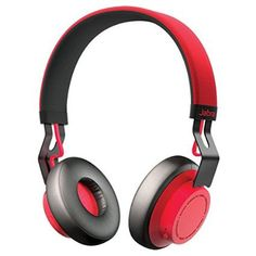 Jabra MOVE Wireless Bluetooth Stereo Headphones (red) Engineered by some of the world's leading sound experts, the Jabra MOVE Wireless Stereo Headphones Best Bluetooth Headphones, Oreillette Bluetooth, Running Headphones, Music Headphones, Over Ear Headphones, Headphone With Mic, 8 Hours, Charging Cable, Playlists