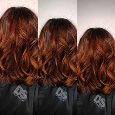 Red Balayage: Copper Balayage: Vibrant Red Balayage: Copper B . Copper Balayage, Auburn Balayage, Hair Color Balayage, Copper Hair, Gold Hair, Copper Rose, Rose Gold, Bob Hairstyles For Fine Hair, Cool Hairstyles