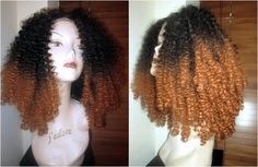 SALE High Heat Human Feel Synthetic afro by CherieHairExtensions