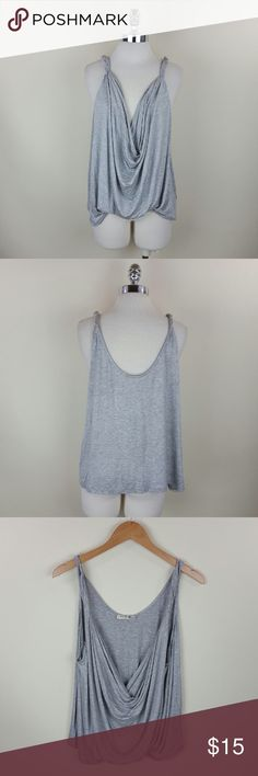 Drape front h grey tank Drape front H.grey tank  95% rayon 5%spandex Tops Blouses