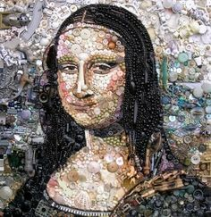 Jane Perkins Recreates Famous Works of Art with Buttons, Beads and Other Bits of Plastic