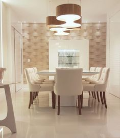 Get inspired by these modern dining room design ideas! Living Room Decor Elegant, Elegant Dining, Living Room Modern, Decor Interior Design, Room Interior, Design Hall, Dining Room Furniture, Dining Room Table, Dining Rooms