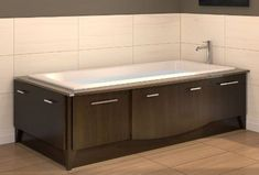 tub with pull out drawers
