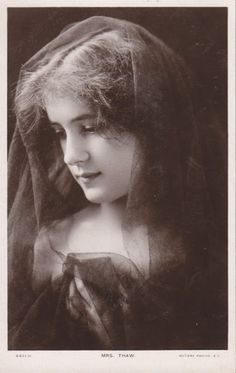 Evelyn Nesbit (December 25, 1884 – January 17, 1967) was an American artists' model and chorus girl, noted for her entanglement in the murder of her ex-lover, architect Stanford White, by her first husband, Harry Kendall Thaw.