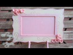 Manualidades - Como decorar un marco de fotos con flores de papel - Creavea - YouTube