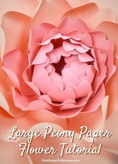 How to Make Large Paper Peonies: Templates and Tutorial Paper Quilling Flowers, Large Paper Flowers, Giant Flowers, Quilling Ideas, Diy Paper, Paper Crafts, Diy Wedding Planner, Paper Peonies, Paper Flower Tutorial