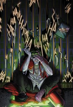 Joker by Joe Azpeytia. --I like how there's even a photograph of Joker (before he became the Joker) and his wife
