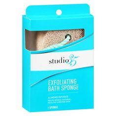 Studio 35 Exfoliating Bath Sponge Almond Infused - 1 ea