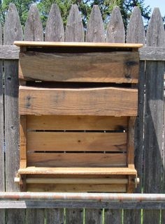 Organize your Bathroom with Rustic Flare!!!!! Very Unique Cabinet for your Bathroom, even comes with Towel Rack. Handcrafted using reclaimed pallet wood. Key hole fasteners for easy hanging.  Dimensions: 27 x 20 x 5  Wood has been sanded, and treated with Linseed oil to preserve and bring out the natural look of the wood.  All Pallet Wood is weathered and rustic, Buyers should be aware that all products are hand made and will have some imperfections which adds to the character and charm of…