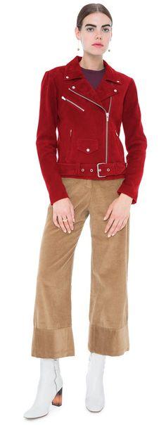 Jayne Suede Jacket Crimson