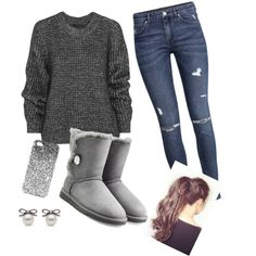 Untitled #1 by st034mg on Polyvore featuring polyvore, fashion, style, Belstaff, H&M, UGG Australia and Topshop