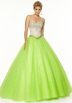 2015 Mori Lee Tulle Skirt Prom Dress 97048