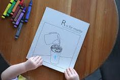 kids colouring book inspired by coffee
