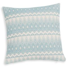 MONTANA blue and beige cotton cushion cover 40 x 40 cm