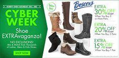 Online Only: Cyber Week! Extra 30% #Off when you buy 3 or more pairs.  Store : #Boscovs Scope: Entire Store  Ends On : 12/03/2016    Get more deals: http://www.geoqpons.com/Boscovs-coupon-codes  Get our Android mobile App: https://play.google.com/store/apps/details?id=com.mm.views    Get our iOS mobile App: https://itunes.apple.com/us/app/geoqpons-local-coupons-discounts/id397729759?mt=8