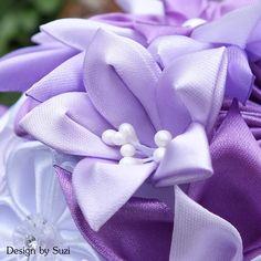 Kanzashi Violet Flower Bouquet  #kanzashi