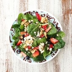 Salad and Lemon Poppy Seed Dressing by TheSkinnyFork