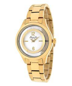 Look what I found on #zulily! Gold Classic Bracelet Watch #zulilyfinds