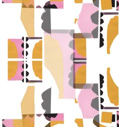 Textile design by Studio Amour.    Close up of an upholstery fabric design.