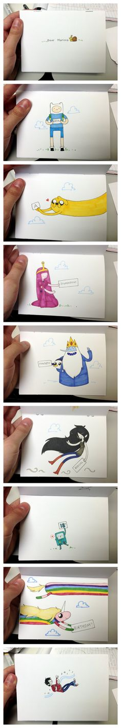 Adventure Time Birthday Card by reb-chan on DeviantArt