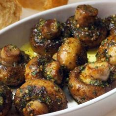 Roasted Garlic Mushrooms.