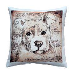 LEONARDO'S DOGS Pit Bull Pillow #BullyDogNation