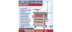 Carro rojo de emergencia Marca Bame - VentasMedicas.com.mx