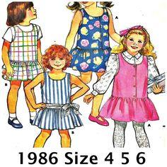 Butterick+3785+Vintage+Girls+Pattern+Party+Dress+Jumper+Size+4+5+6