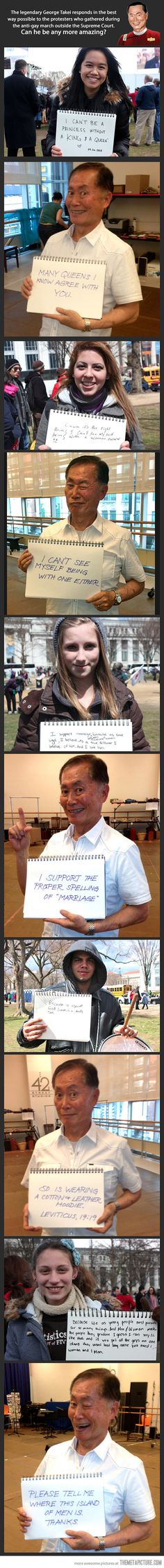 George Takei is the best.