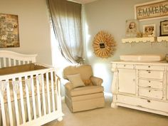 Vintage Neutral Girls Nursery  - wall paint color is Rhino - Design Dazzle
