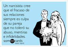 Los #narcisistas y #psicópatas siempre justifican su #abuso hacia sus parejas a través de la proyección de sus malos comportamientos sobre el otro y haciendo que se sientan culpables cuando tratan de defenderse.
