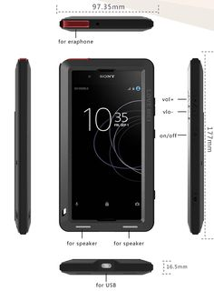 Love Mei Powerful Sony Xperia XA1 Plus Protective Case