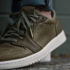 Get An On-Feet Look At The Air Jordan 1 Low No Swoosh Trooper