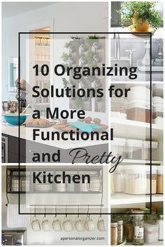 Kitchen organizing solutions to make the most of the space and function of your kitchen.